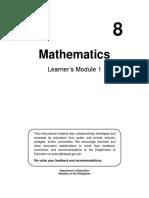 Mayhematics 8 Learning Module 1 pdf