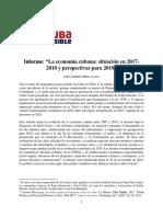 Informe Económico Cuba Posible 2017 2018 Perspectivas 2019