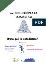 Presentación - Introducción a La Estadistica