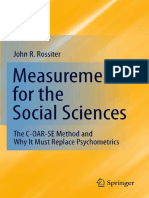 John R. Rossiter - Measurement for the Social Sciences