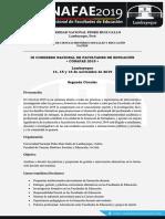 Segunda Circular III CONAFAE Lambayeque 2019 UNPRG