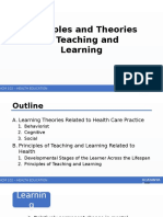 Principles and Theories in Teaching and Learning
