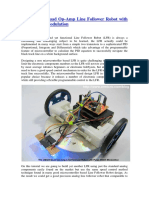 The LM324 Quad Op-Amp Line Follower Robot With Pulse Width Modulation