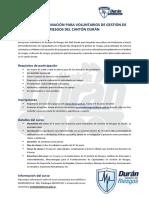 Informativo II Curso Voluntariado de Riesgos - Cantón Durán 2017