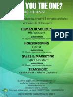 New Job Advertisement -Aug 2019 v3