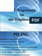 GET Programme on Site Engineering - Piling