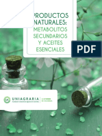 Productos Naturales. Metabolitos Secundarios y Aceites