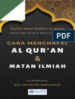 Cara Menghafal Al Qur_an Dan Matan Ilmiah