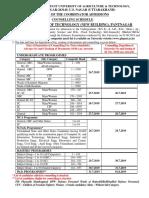 Pantnagar university addmission important dates