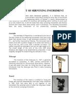 Development of Surveying Instrument