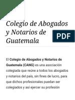 Colegio de Abogados y Notarios de Guatemala - Wikipedia, La Enciclopedia Libre