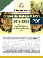 IX Convocatoria de Grupos de Trabajo 2019 2022 2