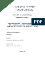 Influencia del comercio informal en la degradación urbana del centro histórico de Trujillo