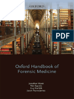 (Oxford Handbooks) Jonathan P Wyatt_ Et Al - Oxford Handbook of Forensic Medicine-Oxford University Press (2011)