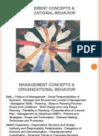 Management Concepts & Organizational Behavior