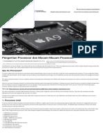 Pengertian Processor Dan Macam-Macam Processor