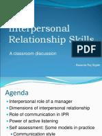 Interpersonal Relationship Skills