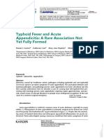 Typhoid Fever and Acute App