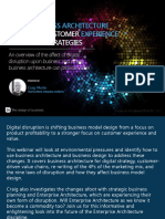 Digital Disruption and Business Architecture to g V