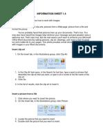Information Sheet 4 Ms Word