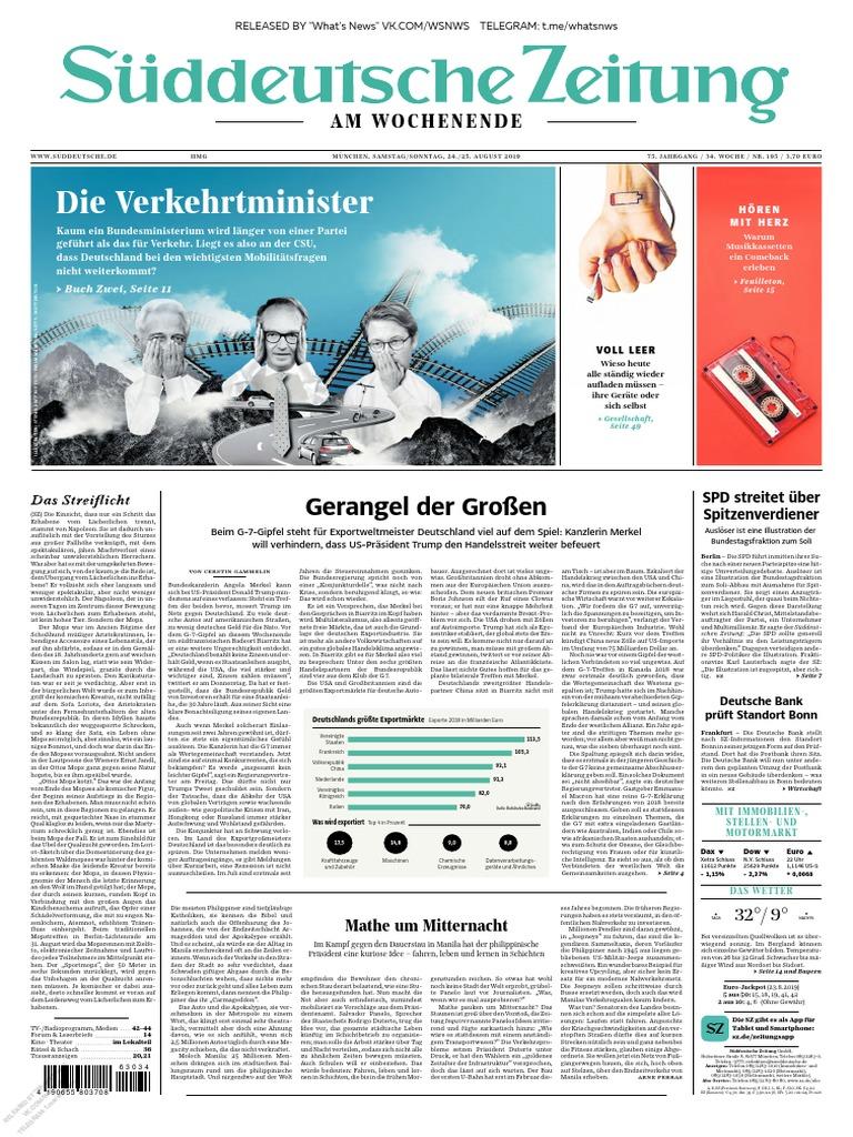 Süddeutsche Zeitung 2019.08.24 25
