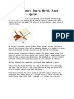 7 Cara Membuat Suara Merdu Saat Membaca Al Quran