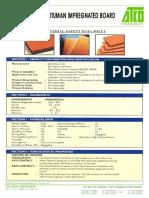 Impregnated board Data Sheet