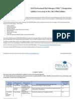 2019-2015 PRM Syllabus Crossmap