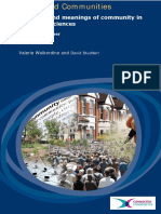 Concepts and Meanings of Community in the Social Sciences