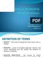 Safety as Related to Health Practices
