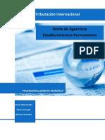 Informe de Trib. Int.- Renta de Agencias y Establecimientos Permanentes