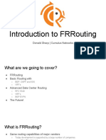 Introduction to FRRouting