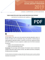Announcement Oas Upv Grid Connected