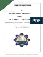 Summer Internship Documents