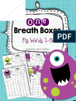 Reading Fluency One Breath Boxes Fry Words