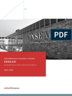 MbaMission INSEAD Insider's Guide 2017-2018