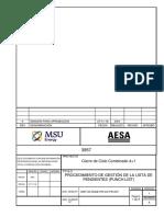 3957-00-00ge-Pr-co-pr-007 Procedimiento de Gestión de La Lista de Pendientes (Punch List)
