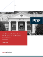 MbaMission Dartmouth Tuck Insider's Guide 2018-2019