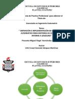 OBTENCIÓN DE COMBUSTIBLE ALTERNATIVO PARA MOTORES DE COMBUSTIÓN INTERNA A GASOLINA