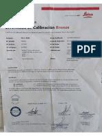 C. Calibración Estación Total LEICA