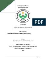 Lasma Enita Siahaan.bilphy18.Critical Journal Review.profesi Kependidikan.