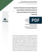 Processo de Manut. Em Empresa Transportadora de Cargas Por Meio Da Aplicação Do PERT CPM_prova