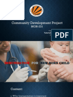Immunization for New-born Child