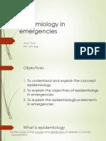 Epidemiology in Emergencies