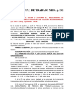 Tribunal 4 de Quilmes Declaro La Inconstitucionalidad. Benavidez c. Asociart.