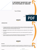 ANALYSIS OF DIFFERENT INVENTORY AND DISTRIBUTION STRATEGIES OF AMAZON