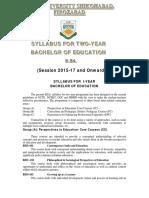 B.ed. Syllabus