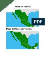 mapa de mexico sin yucatan
