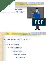 CONCRETE MIX DESIGN ACI 211 - 1ija.ppt