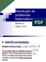 Resolução de Problemas Matemáticos